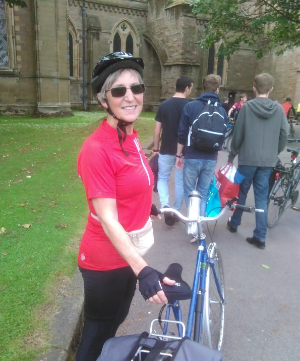 Virginia from Westbury-on-Trym, Bristol, with the bike we serviced as part of our call out service, collection, bike repair, tune-up